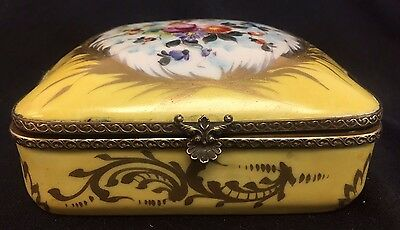 B. Altman French France Hand Painted Trinket Dresser Jewelry Box