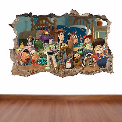 Toy Story 2 hole in the wall full colour feature sticker decal kids