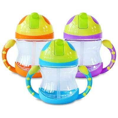 Sippy Cup with Handle Baby Kid Straw Cup Drinking Bottle Children Learn Drinking