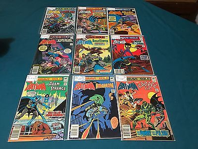 DC Comics The Brace And The Bold Lot Of 9 #155-198