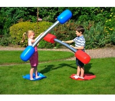 New Kids Or Adult Inflatable Outdoor Gladiator Game Set Summer Fun