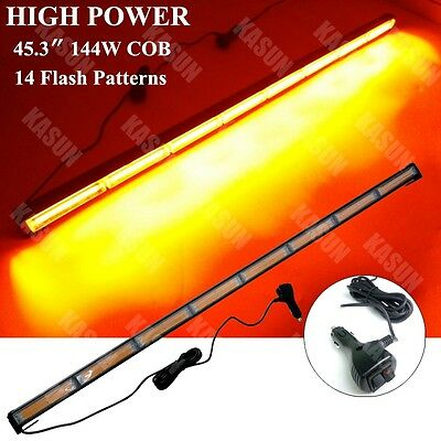 High Power Cob Led Traffic Light Bar Beacon Emergency Warning Strobe Lamp Amber