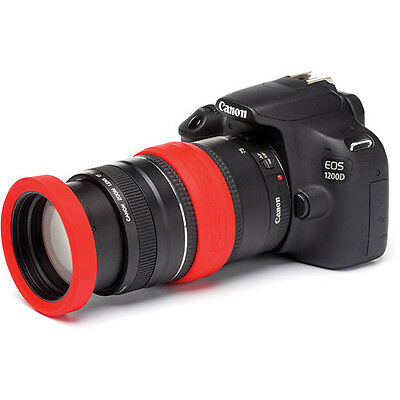 easyCover Lens Rims for 58mm Lens Red (Lens ring and bumper) protective skin