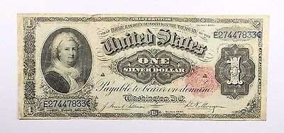 1891 One Dollar Large Size $1 Martha Silver Certificate Currency Note FR# 223