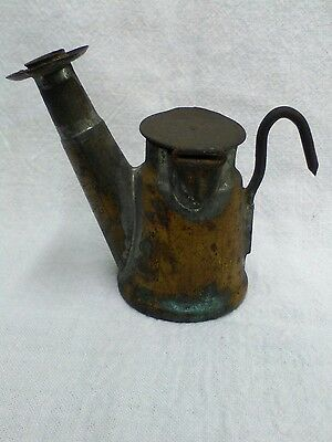 Star, Grier Bros. Brass & Tin Miners Oil Wick Lamp