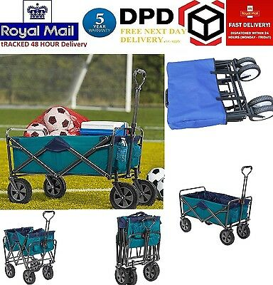 Tofasco Folding 4 Wheel Wagon Trolley Foldable Collapsible Cart BRAND NEW