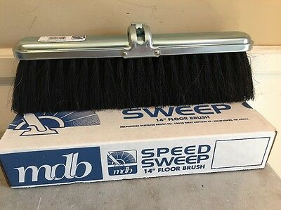 "Milwaukee Dustless Brush 214140 Speed Sweep 14"" Floor Brush Broom NEW"