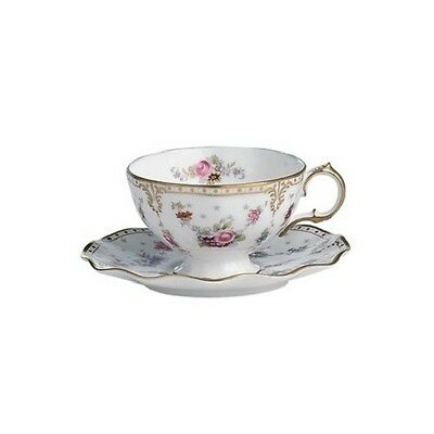 New Royal Crown Derby 1st Quality Antoinette Tea Cup & Saucer with Gift Box