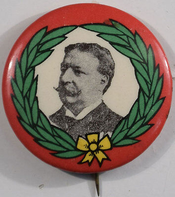 "1908 1 1/4"" Graphic William Howard Taft Celluloid Campaign Button Near-Mint"