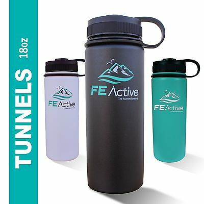 18oz FE Active Eco BPA Free Double Walled Insulated Stainless Steel Water Bottle
