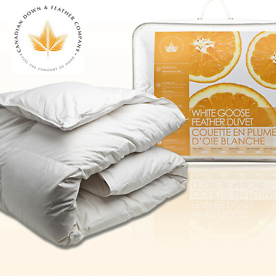 Canadian Down & Feather Co - All Season White Goose Feather Duvet - 100% Cotton