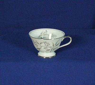Grace Alyson 566 Footed Tea Cup Platinum Floral Made by Seyei Japan bfe1689