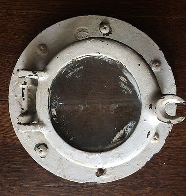 Salvaged Wilcox Crittenden Brass/bronze Nautical Maritime Ship Porthole Glass #5