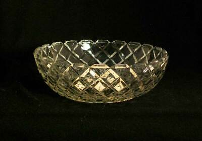 Anchor Hocking USA Waterford Clear AKA Waffle Cear Crystal Cereal Bowl bfe0782
