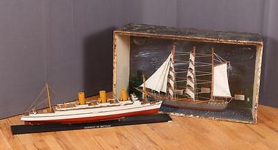 Folk Art Ship Model and Diorama Lot 204