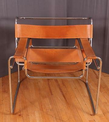 Breuer Wassily Chair with tan leather upholstery Lot 301