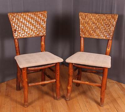 Pair of Old Hickory Indiana Rustic Side Chairs Lot 105