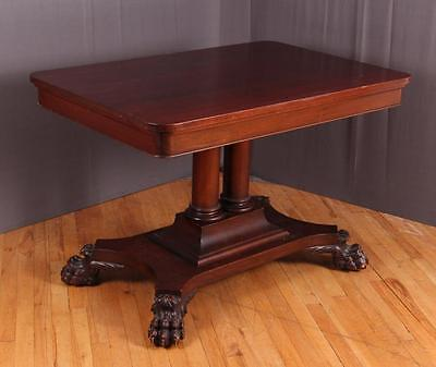 Empire Style Antique Mahogany Library Table Lot 210