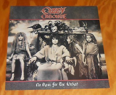 Ozzy Osbourne No Rest for the Wicked Poster 2-Sided Flat Square Promo 12x12
