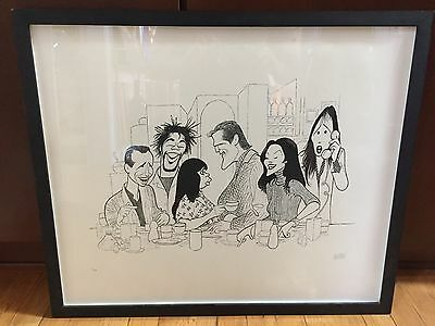 Rare Original Al Hirschfeld Signed Limited Edition Lithograph #11/100 Framed