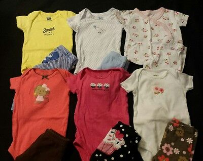 Baby Girl Size 0-3 Months Spring & Summer Clothing Lot