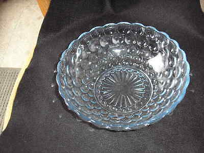 "Blue Bubble Glass 8&1/4"" Serving Bowl"