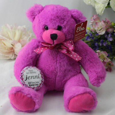 Happy Birthday Personalised Bear - Pink - Add Your Own Details