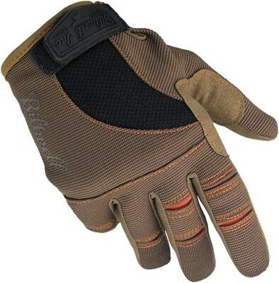 Biltwell Mens Street Riding Cycle Protection Moto Gloves GL-MED-BR-OR