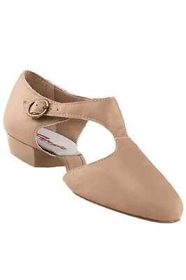 New Capezio 321 Pedini Tan Girls 1.5 - Ladies 9.5