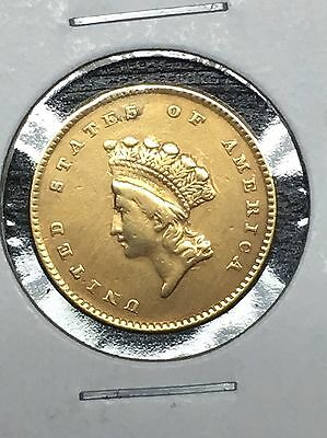 1854 Indian Princess Head $1 Gold Piece Type 2