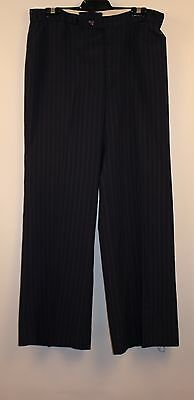 "MENS, BLUE PIN STRIPED, 1970s PANTS. ""FLAIRS"" ""CITY TAILORS"" 36R POLYESTER/WOOL."