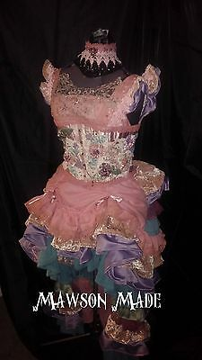 Steampunk Neo-Victorian Gown Formal/bridal Handcrafted Unique 7 Pcs X-Lg