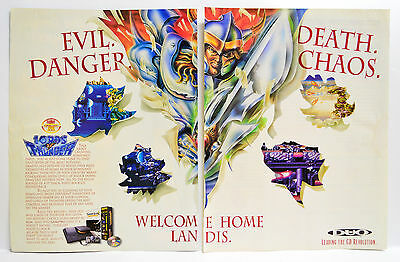 Lords of Thunder by TTI for TurboDuo CD 1993 vintage video game 2-page Print Ad