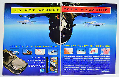 Tomcat Alley for Sega CD 1994 vintage video game two-page Print Ad