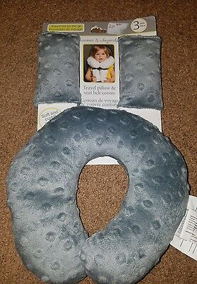 baby travel pillow neck and seat belt covers