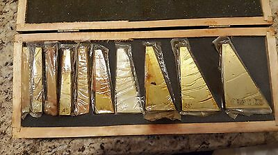 Vintage 10 PC Angle Block Set 1 - 30 Degree Blocks In Wooden Case