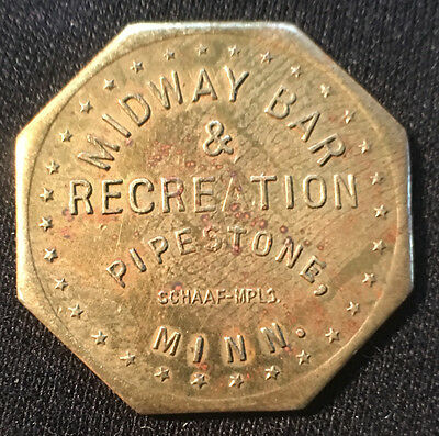 Good For 5C In Trade Token,  Midway Bar & Recreation, Pipestone, Minnesota