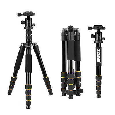 ZOMEI Q666 Portable Aluminium Tripod Monopod Compact Ball Head for DSLR Camera