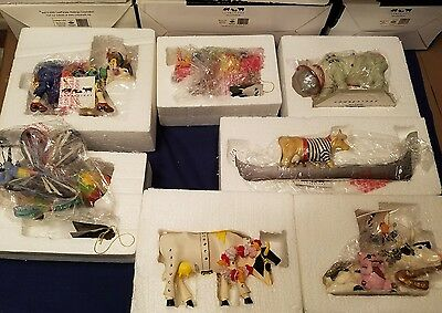 Cow Parade figurine lot of 7 Brand New!