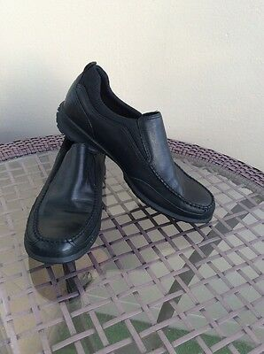 Cole Haan Mens Black Nike Air Leather Slip On Shoes Size 10.5