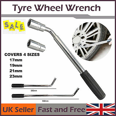Extendable Telescopic Wheel Brace 17 19 21 23mm HEAVY DUTY Wheel Tyre Nut Wrench
