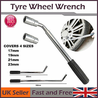 Extendable Telescopic Wheel Brace 17 19 21 23mm Wheel Tyre Nut Wrench Car Van