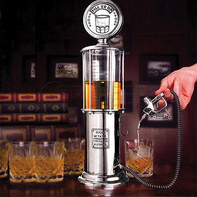 Gasoline Pump Gas Retro Wine Alcohol Liquor Cocktail Shot Dispenser Bar Butler