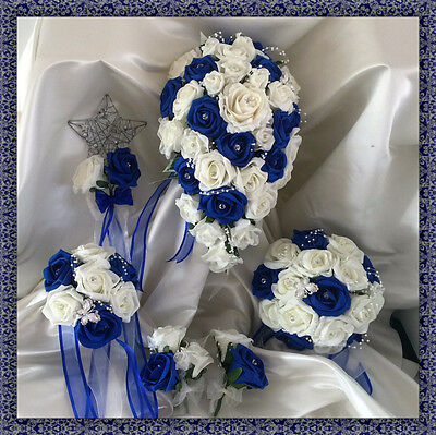 Fiori Matrimonio Ivory/Royal Rose Bouquet Cristallo, Bride/Damigella/Asole
