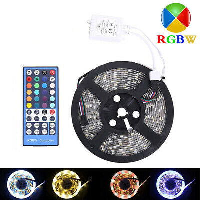 5M SMD5050 RGB+White DC12V 300Leds RGBW LED Light Strip With 40Key IR Controller