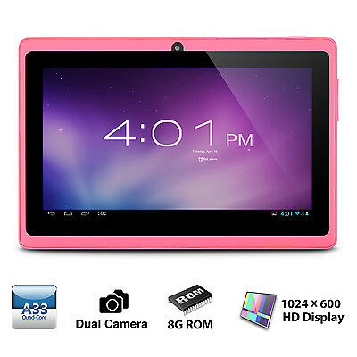 Tablet de 7 Pulgadas - Android 4.4, Quad Core,8 GB ROM, Wi-Fi, Bluetooth-rosa