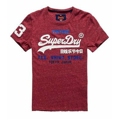 T-shirt Superdry Shop ruby wine snow