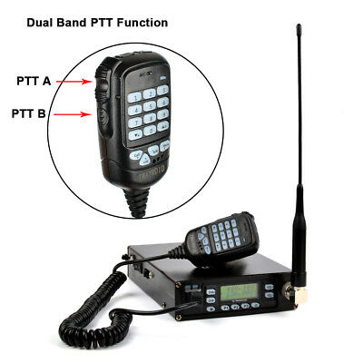 Mobile Radio Transceiver VHF UHF Portable Vehicle Radio With Dual PTT Function