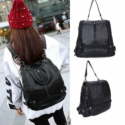 Fashion Women PU Leather Travel School Bag Backpack Shoulder Rucksack Satchel