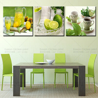 Large canvas prints modern wall art painting fruit picture for kitchen decor